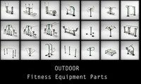 Outdoor Fitness equipments Collection