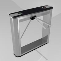 3d model perco turnstile