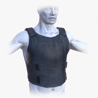 Lowpoly Police Bullet-Proof Vest