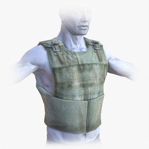 bullet-proof vest bullet c4d