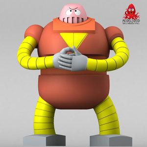 3d model bobo-bot boss robot
