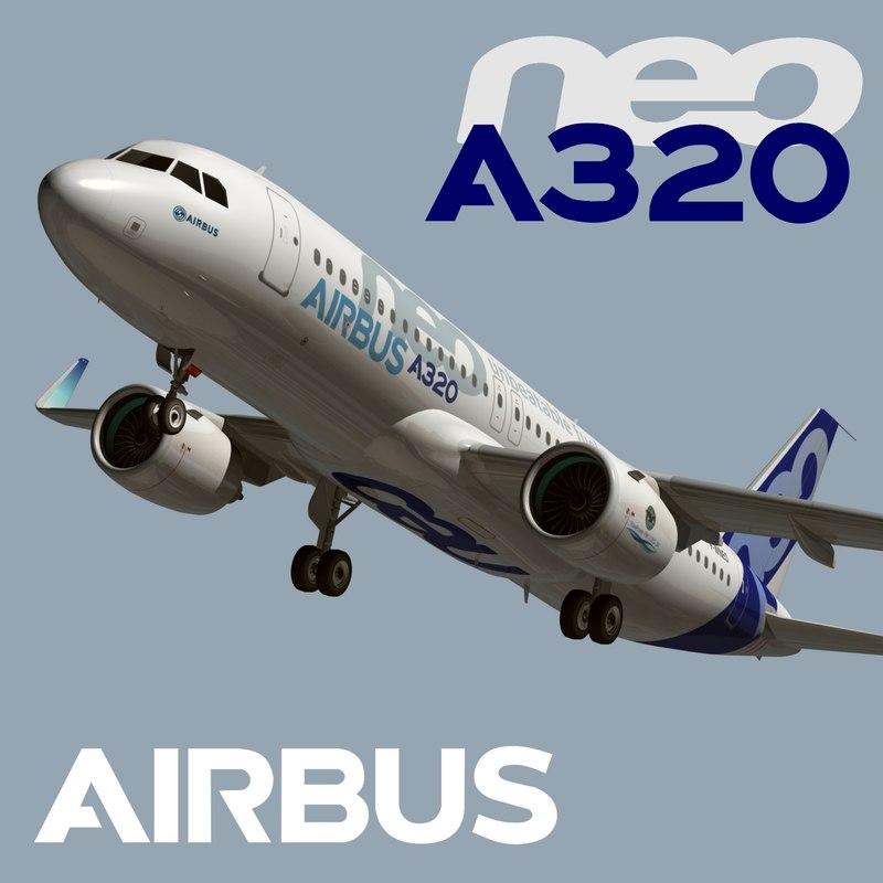 airbus a320 neo air 3d model