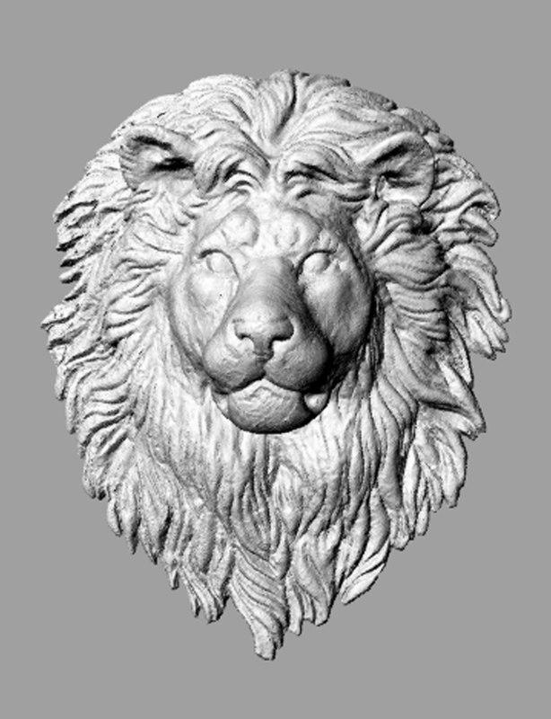 3ds scan lion head