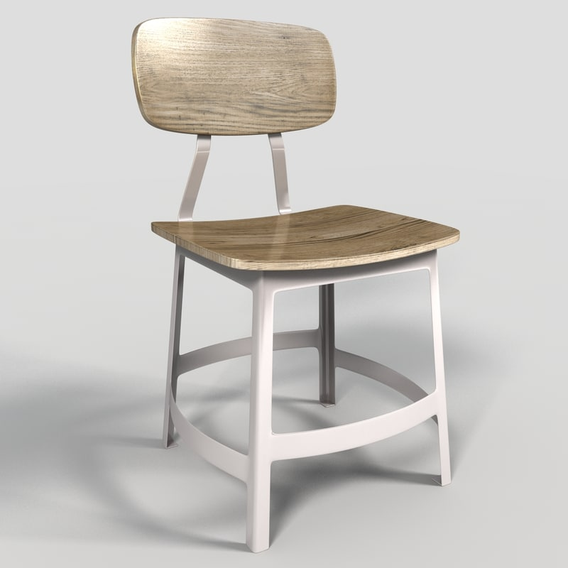 cafe chair 3d model