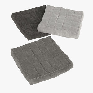 3d pillows realistic model