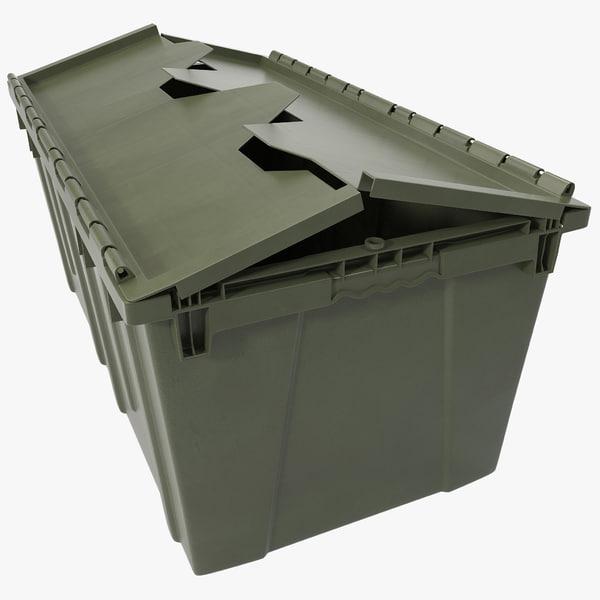 3d model industrial storage bin