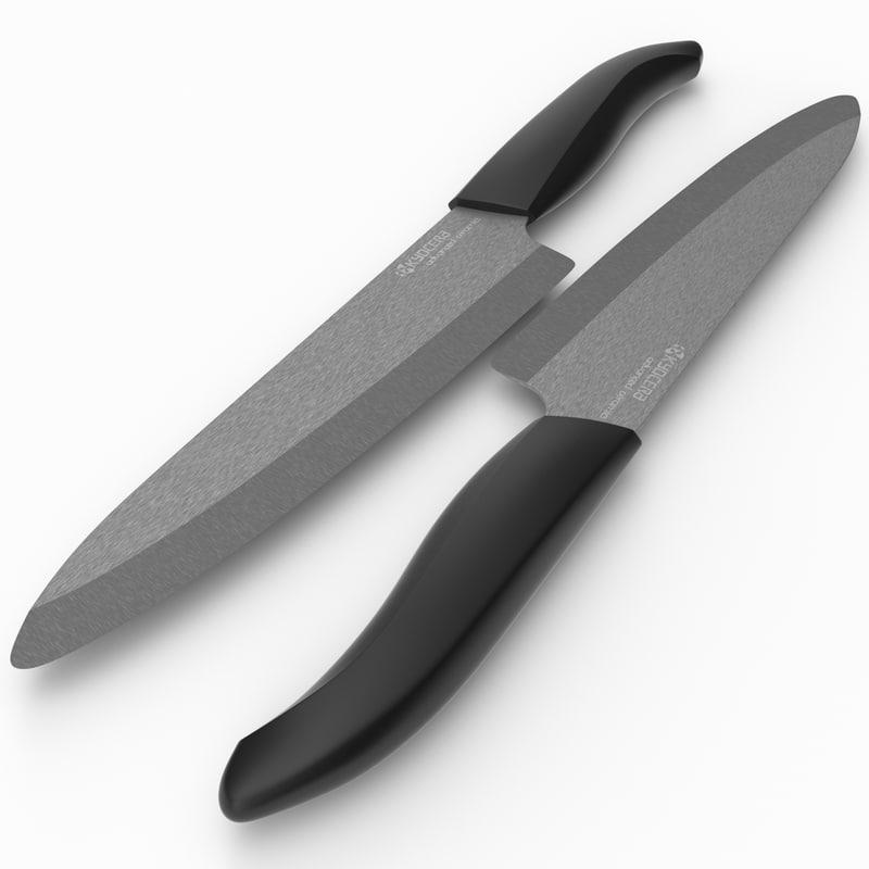 3d model professional chefs knife kyocera