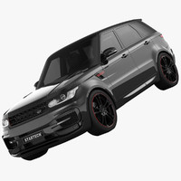 3d land rover range sport model