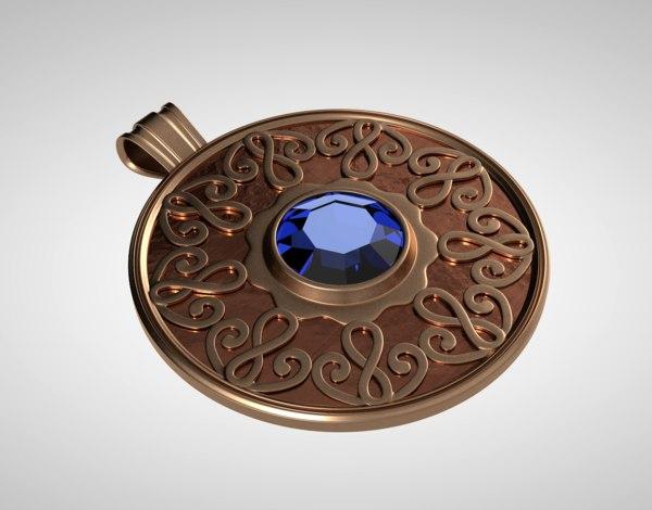 3d c4d celtic pendant