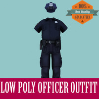 Officer Outfit Low Poly for Games