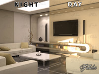 3d living room 10 day