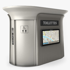 public toilet 3d 3ds