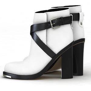 3d model winter shoe