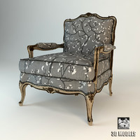 3d model armchair zanaboni chair