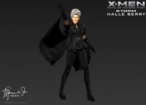 halle berry storm xmen 3d model