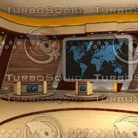 3d virtual set model