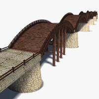 3d model of historic kintai bridge