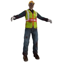3d worker zombie