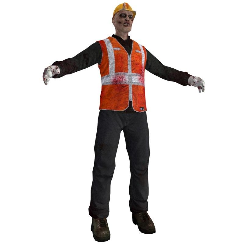 3dsmax worker zombie