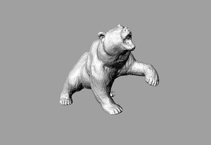 3d figure bear model
