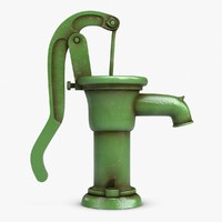 hand water pump 3d model