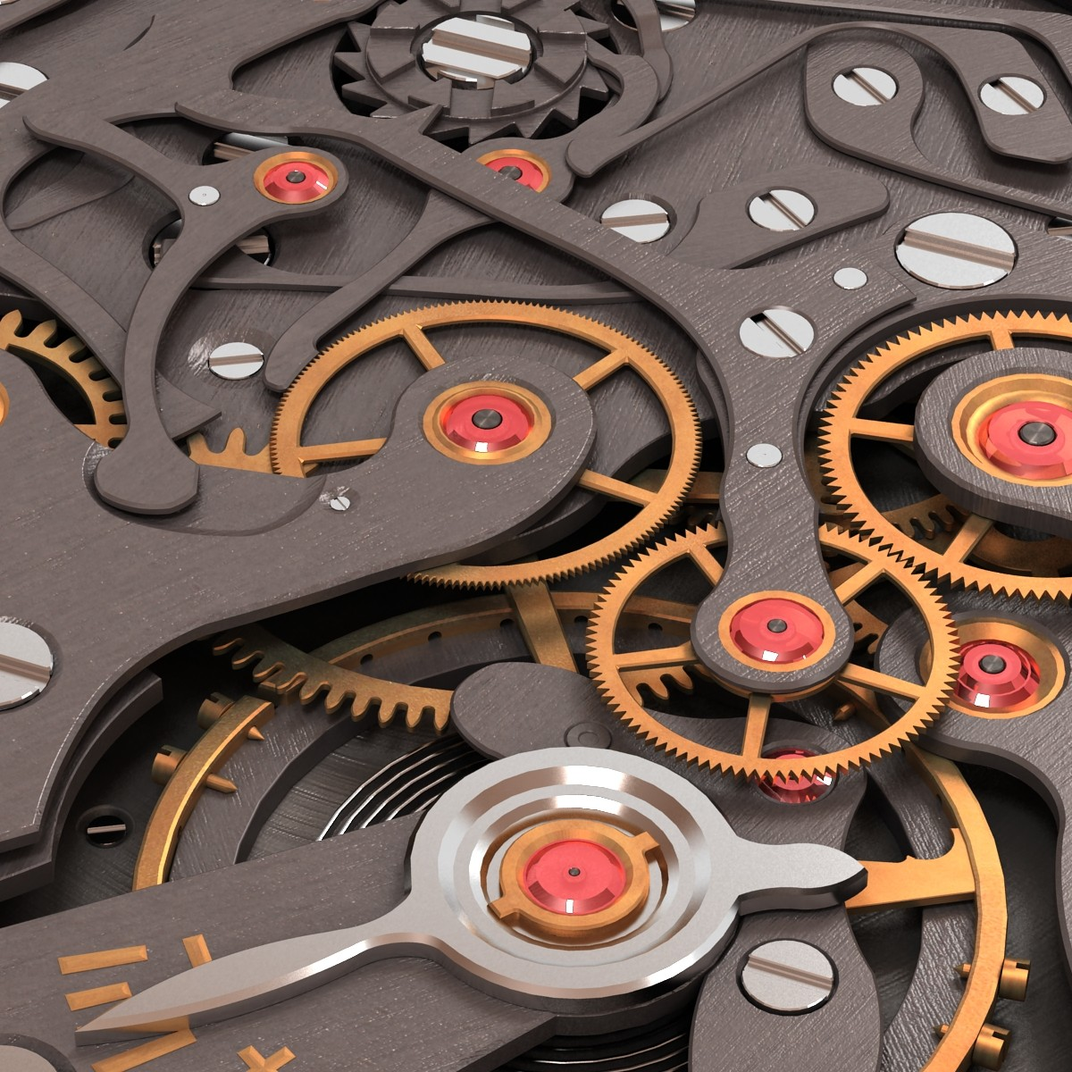 watch mechanism 3d model