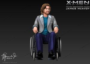 3d james mcavoy professor xavier model