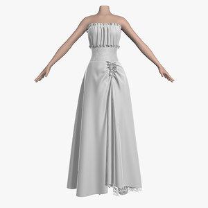 3d wedding dress 006 female model