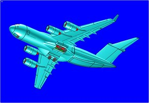 c-17b strategic cargo aircraft 3d model