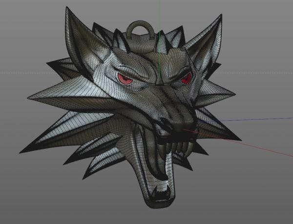 witcher s wolf medallion dxf