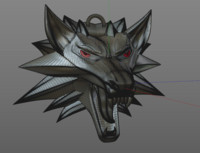 witcher's wolf medallion [3D printable]