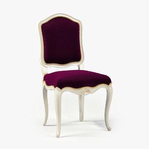 3d model of moissonnier regency chair