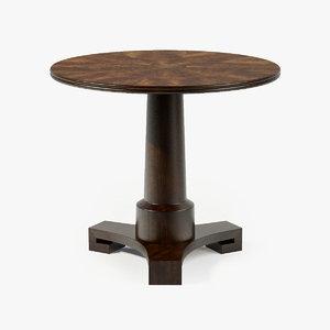 baker adams table 3d max