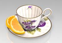 tea cup 3d obj