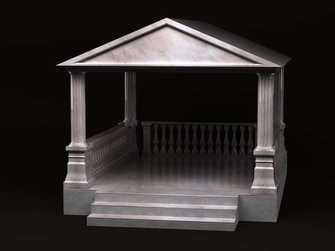 3d model gazebo greek