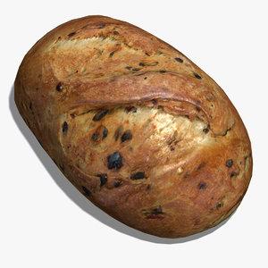 cheddar jalapeno bread 3d model