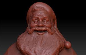 3d model of santa claus