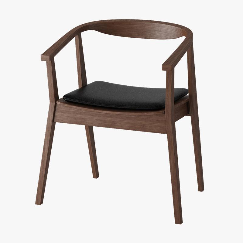 Ikea stockholm armchair 3d model - Silla stockholm ikea ...