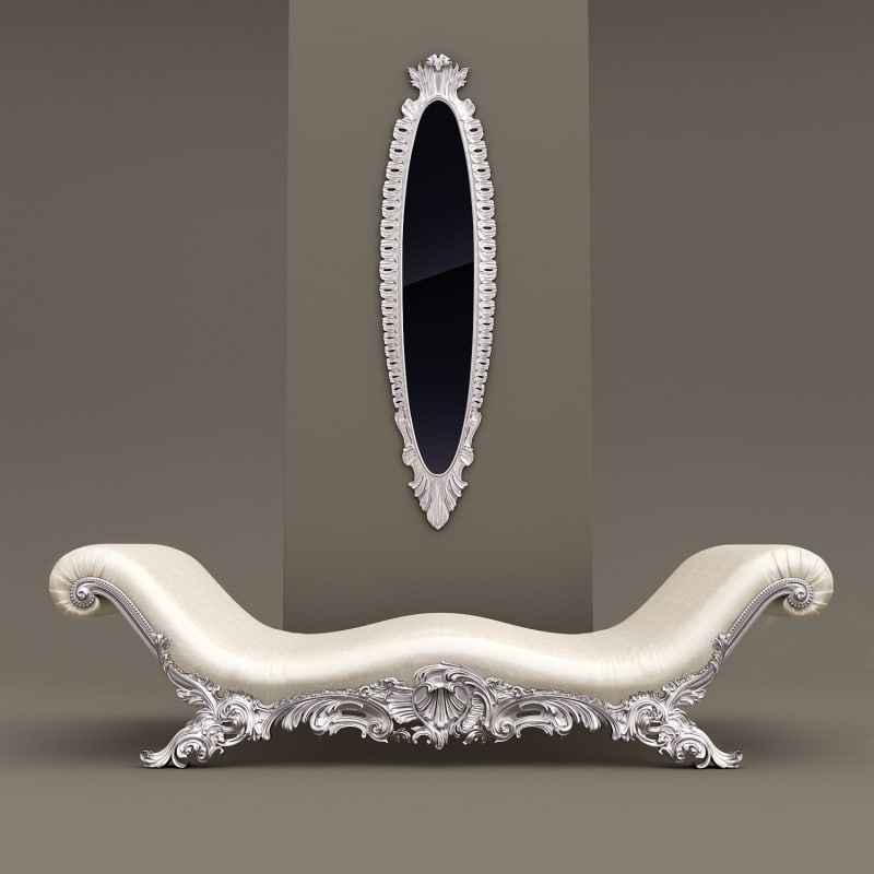 3d model belloni chaiselove mirror couch