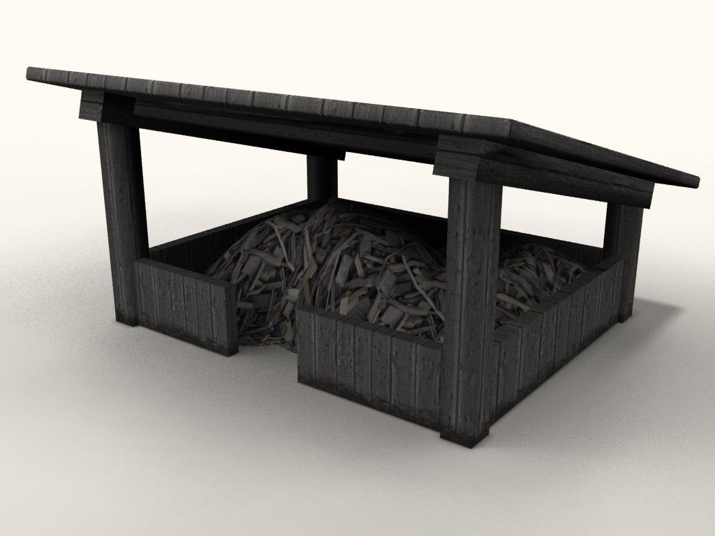 village pile roof 3d max