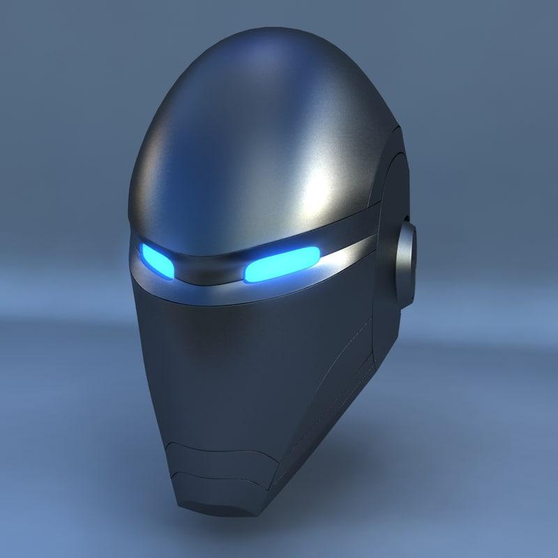 3d model robot head e