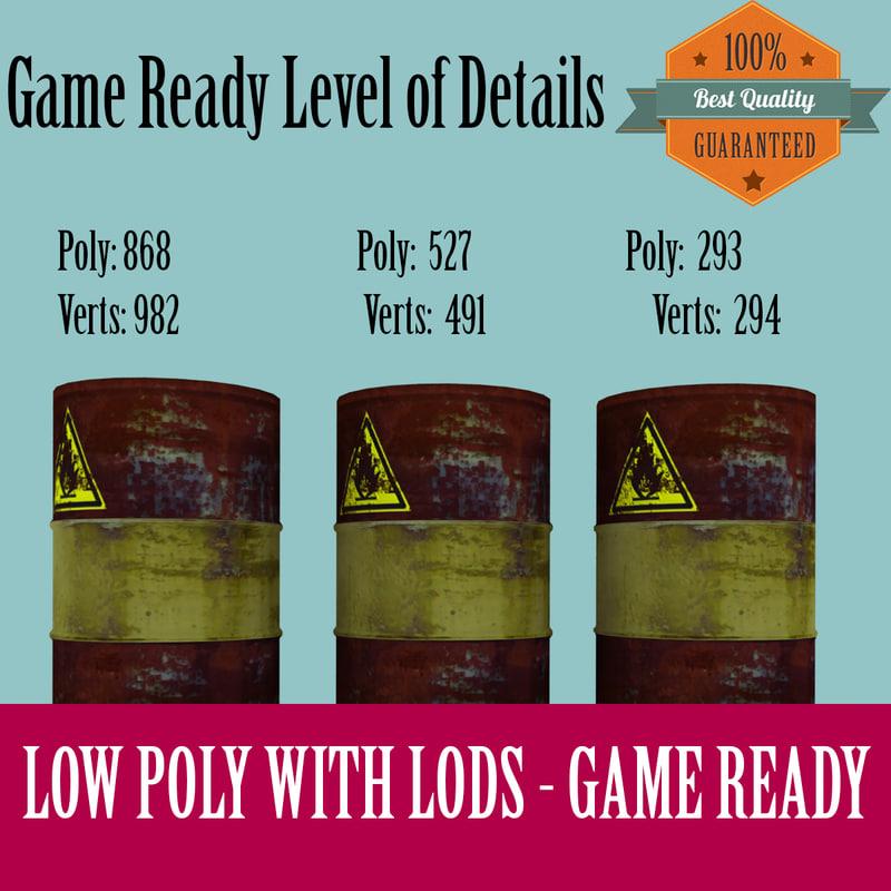 3d model rusty barrel ready games