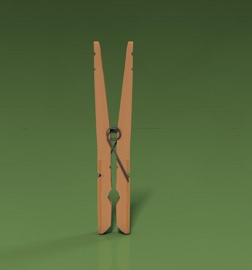 3d clothes pin model