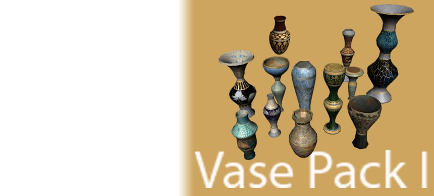 3d decorative vases