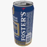 fosters beer 3d x
