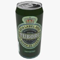tuborg beer 3d fbx