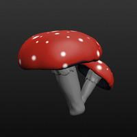 3d mushroom