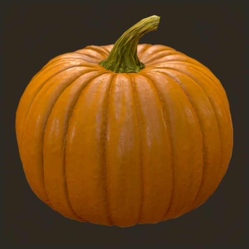 3d realistic pumpkin model
