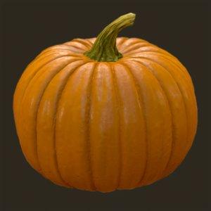 3d realistic pumpkin model