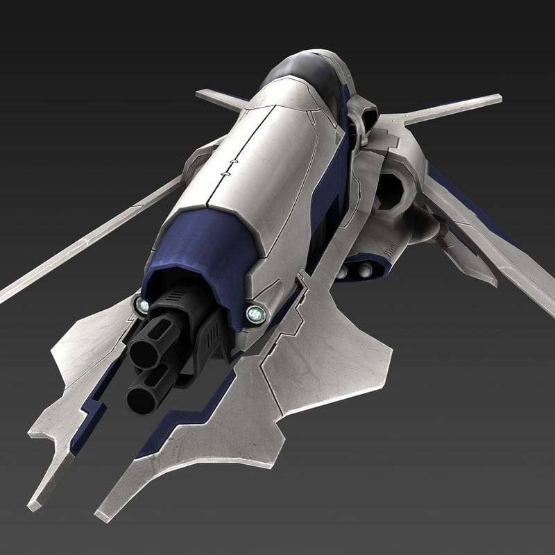 spaceship fighter 3d max